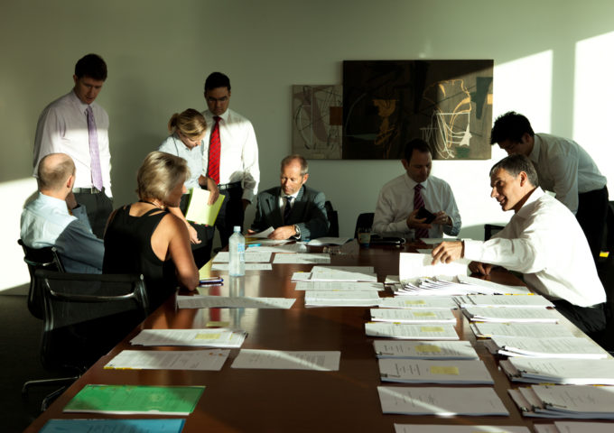 Corporate Business Meeting In Boardroom